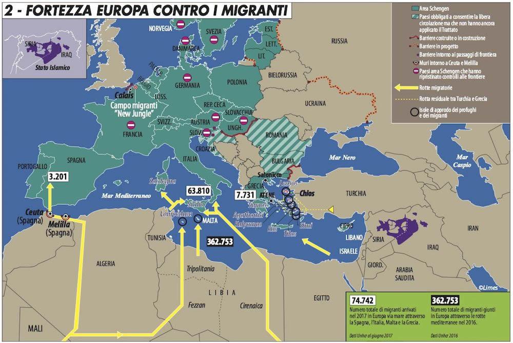 La migrazione irregolare in Europa